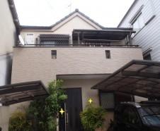 【東大阪市】外壁塗装・バルコニー防水を行ったお客様