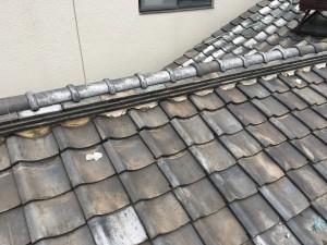 瓦屋根 漏水 漆喰欠落