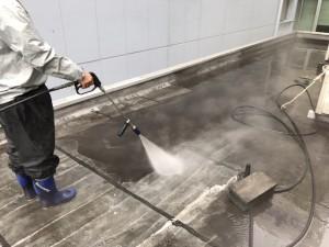 屋上防水 高圧水洗浄