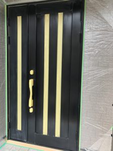 アルミ玄関塗装 ダイタク