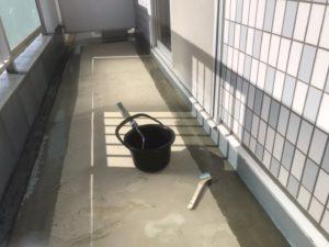 東大阪市 バルコニー防水工事 長尺シートビュージスタ ダイタク