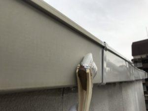東大阪市 雨漏面外壁塗装 廊下階段長尺シート 玄関ドア交換 ダイタク