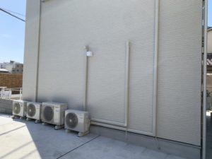 大阪市 カーポート設置 エアコン室外機移動 スリムダクト新設ダイタク