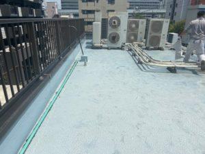 大阪市 屋上防水工事 塩ビシート防水機械的固定工法 ダイタク