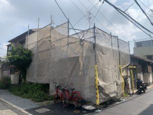 大阪市 屋根改修に伴う仮設足場設置 ダイタク