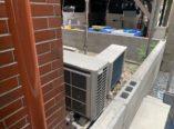 大阪市 外壁塗装工事・防水工事に伴う外構工事 エアコン室外機移動