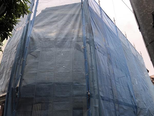 大阪市 外壁 塗装 屋根 瓦 漆喰 補修 ダイタク 足場