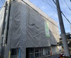 大阪市 外壁タイル~外壁改修工事 仮設足場設置 ダイタク