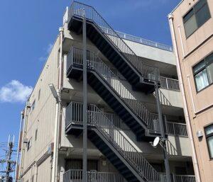 生駒市 外部階段塗装 ダイタク DAITAKU