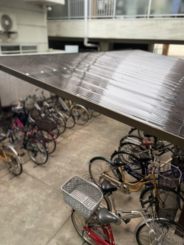 大阪市 サイクルポート 屋根 波板交換工事 駐輪場 DAITAKU ダイタク