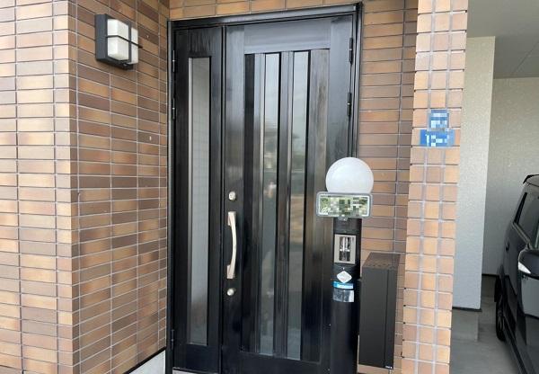 大阪市 玄関ドア リペア塗装 DAITAKU アルミ塗装