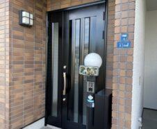 大阪市 玄関ドア アルミ塗装 リペア塗装 DAITAKU