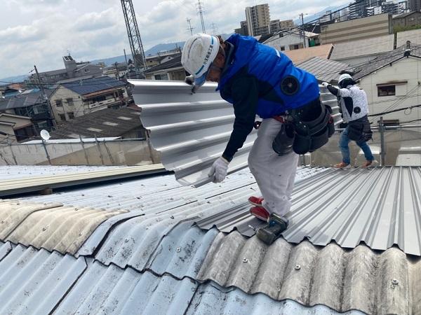 大阪 屋根 雨漏り カバー工法 DAITAKU
